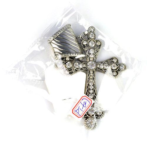 Alloy Schal Anhänger Cors Charms Schmuck Halskette Schal Anhänger mit Strass Charm PT-627