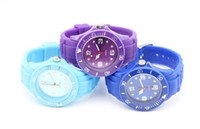 Wholesale Ladies Silicone Watches Wholesale - Luxury Sport LED Digital Lady Men Watch Fashion Watches Silicone Soft Watch mix color New gift 5pcs