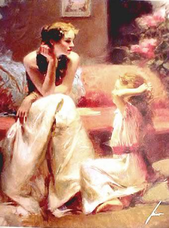 high quality oil paint woman painting italian paintings thinking of