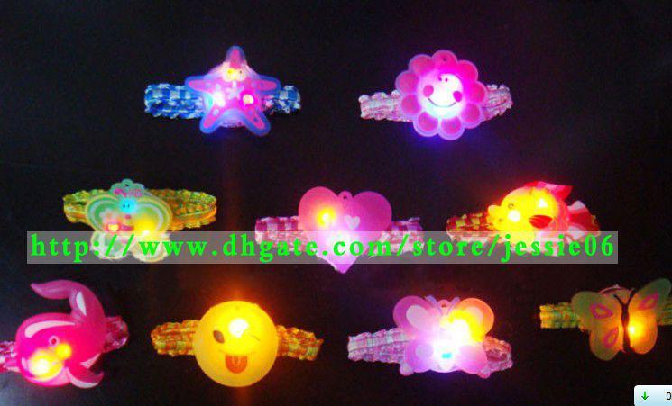 Il flash della ragazza LED accende i capelli della fascia dei capelli dei colori della caramella dei capelli della banda dei capelli di cips la migliore atmosfera dei puntelli