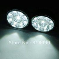 Wholesale Euro Drl - 2pcs Super bright White Round 9LED Daytime Running Lights Euro DRL E4 RL006 fog lights