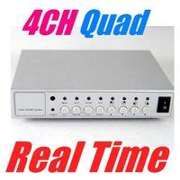 Wholesale Camera Switcher - 4CH COLOR VIDEO QUAD PROCESSOR CCTV CAMERA SYSTEM 4 channel Video Quad Camera Processor Switcher