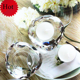 Wholesale Candle Favors Free Shipping - FREE SHIPPING! Choice Crystal Heart Shape Tea Light Candle Holder Favors,Wedding favors candy holder, party decoration gifts
