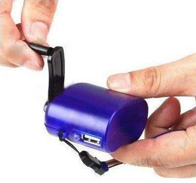 Hand Power Dynamo Hand Crank USB Cell Phone Emergency Charger mini hand charger D035