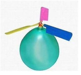 Wholesale Toy Helicopters Yellow Plastic - Free shipping 30pcs Balloon Helicopter balloon Toy children Toy self-combined Balloon Helicopter
