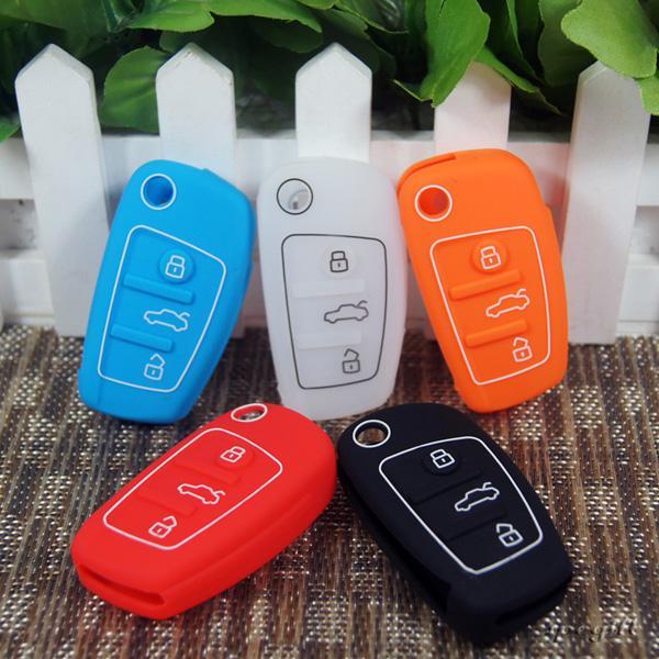 Audi Silicone Car Key CoverAudi Silicone Remote Car Key Case - Audi car lot