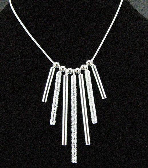 Gratis frakt med spårningsnummer bästa mest heta sälja kvinnors känsliga present smycken 925 silver 7 remsor halsband