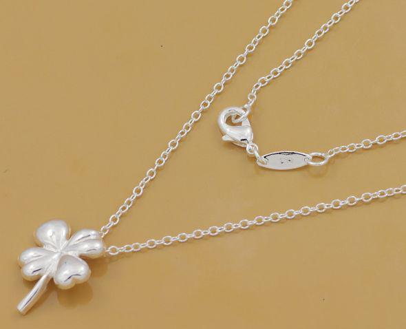 Gratis verzending met tracking nummer beste meest hot verkopen vrouwen delicate geschenk sieraden 925 zilveren klaver ketting