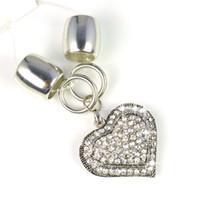 Wholesale Heart Shape Pendant Scarf - Heart Shape Pendants Necklace Jewelry Scarf Charms Fashion accessories ,PT-625