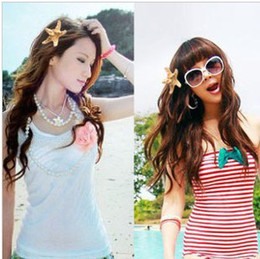 Wholesale Tires For Hair - wholesale hair jewelry hot natural hair clip hairpin starfish holiday for the tire taking pictures
