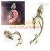 Fashion Dragon Style form Earring New Alchemy Gothic Dragons Lure Cuff Pewter Earring 20pcs lot E-28