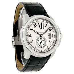mens swiss mechanical watch 2018 - Luxury Men's CALIBRE DE SERIES MENS LEATHER SWISS AUTOMATIC WATCH W7100037 Men's Watches Mens Watch cheap mens swiss mec