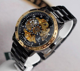 Wholesale Mechanical Hollow Sided - IK double-sided hollow out automatic mechanical watch Mutalisk through at the end luminous man watch