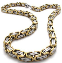 Wholesale Great Halloween Gifts - 156g,great men's heavy Stainless Steel 8.5mm silver gold chain Necklace,23.6''Free shipping!