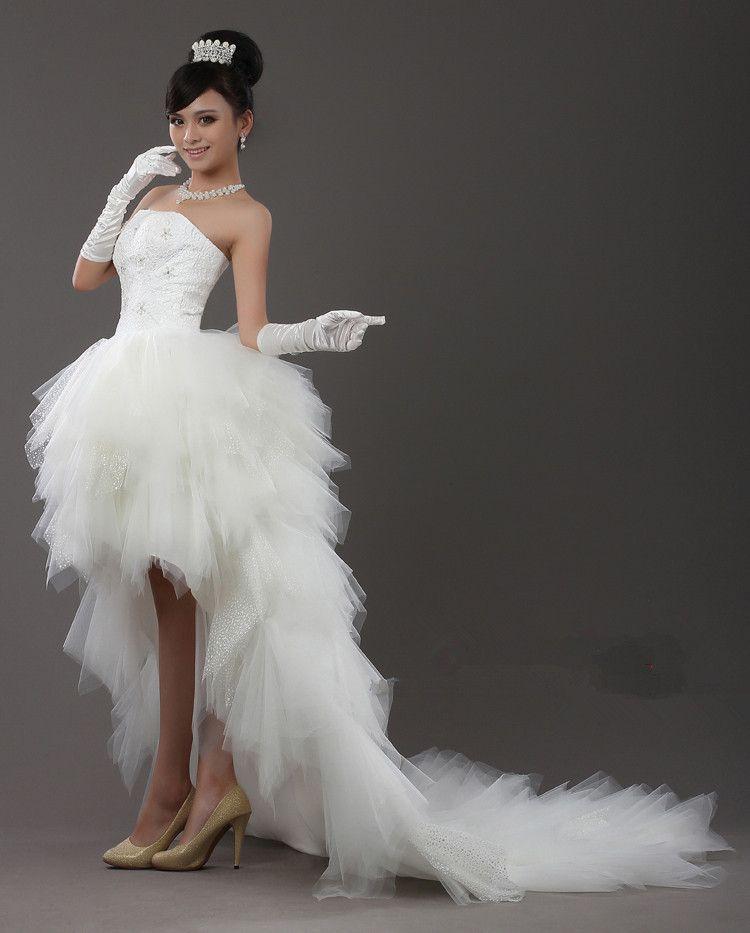 2012 Sexy Wedding Dress/Dresses Strapless Asymmetrical