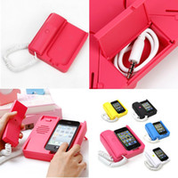 Wholesale Dock Handset For Iphone - Classic Handset Dock Stand Holder for iPhone 4 3GS