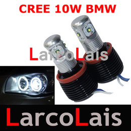Wholesale Angle Eyes Led - 2pcs 20W White Cree LED Angle Eyes Light Lamp H8 Canbus E63 M6 M3 E90 E91 E61 E60 E87 E82 X5 X6