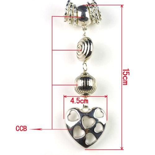 aushöhlen Herzform Zubehör für Schmuckschals, Mode DIY Schmuck Teil PT-623