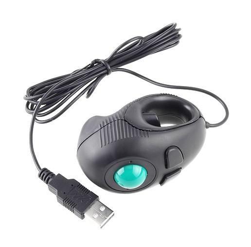 Yumqua y-01 dedo portátil mão held 4d Mini Mini Trackball Mouse / Se encaixa os utilizadores esquerdo e destro para os amantes do laptop