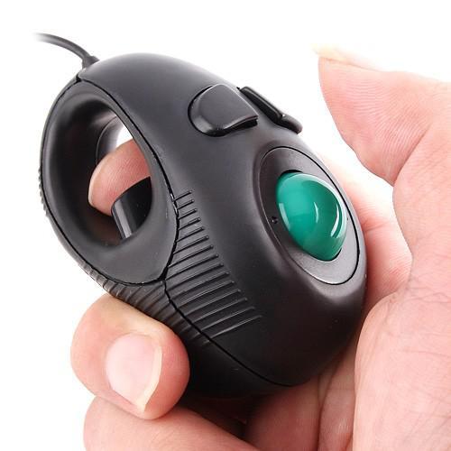 YUMQUA Y-01 PORTABLE DOINTURE Main tenu 4D USB Mini Trackball Souris / Convient aux utilisateurs gauches et droitiers idéal pour les amateurs de portable