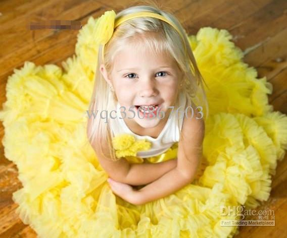 Cute Baby Chiffon Pettiskirt TuTu Skirt Children Princess Skirts Kid's Dance Party Dress