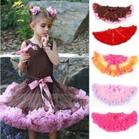 sevimli şifon elbisesi bebek toptan satış-5 adet Sevimli Bebek Şifon Pettiskirt TuTu Etek Çocuk Prenses Etekler çocuk Dans Parti Elbise