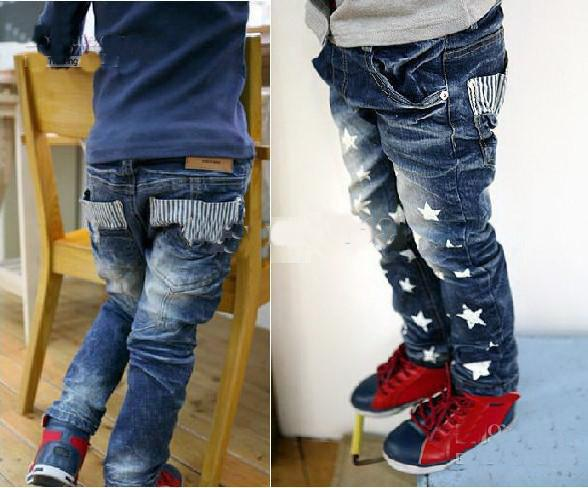 ec39c642b Baby Boys Girls Jeans Pants Children'S Star Pants Blue Jeans Kids Trousers  Boys Green Jeans Infant Jean Jackets From Dhwholesale2010, $49.2| DHgate.Com