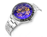 Wholesale Mechanical Hollow Sided - Luxury IK IKcolouring double-sided hollow out automatic mechanical watches fluorescence men watches