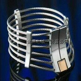 Wholesale Steel Collar Wrist Ankle Cuffs - 2017 Latest Unisex Stainless Steel Wire Necklet Neck Ring Collar Restraint Posture Bondage Chastity Lock BDSM Sex Games Toy Product