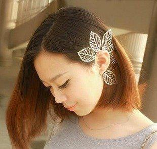 best selling 2012 New!! Vintage Punk Hollow leaves unilateral Ear Hang Cuff Earring Stylish earrings Gold 15pcs
