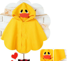 Wholesale Branded Poncho Capes Cloaks - Baby Boy Girl Toddler Frog Duck Hoodie Cloak Poncho Cape Mantle Cloak Hoodies Jacket Coat Outwear yi