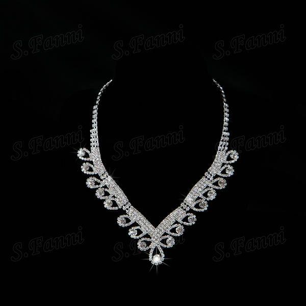 Venta al por mayor! Nueva llegada paquete oreja, corona y collar de cristal de Austria joyería nupcial