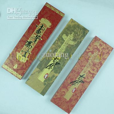 Gegraveerde unieke eetstokjes Geschenken Dozen Set High End Chinese Houten 2 Sets / Pack (1Set = 2pair) Gratis