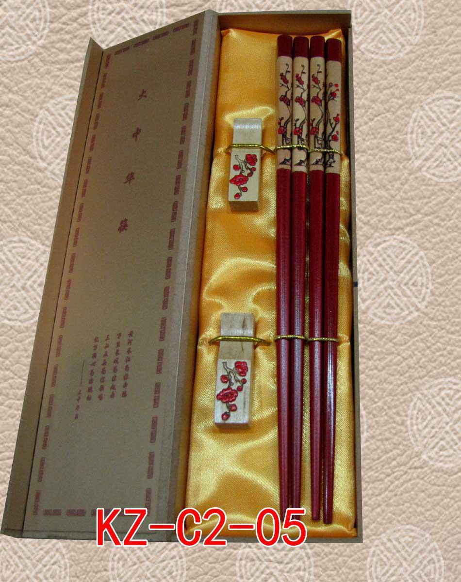 Luksusowe Chopsticks Grawerowane Panda Design Pudełko 2 Zestawy / Pack (1 zestaw = 2Pair)