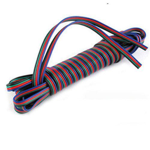 4 broches Câble pour RGB LED bande, rouge, noir, vert, 100m de fil bleu / 100 m de long DHL Livraison gratuite