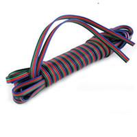 fios de extensão led rgb venda por atacado-100 m 4 pinos led cabo de extensão cabo de fio rgb led cabo de extensão para 5050/3528 led rgb tira de luz