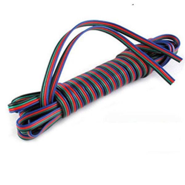 100M 4 broches LED RGB câble rallonge fil rallonge LED pour bande de lumière 5050/3528 LED RGB