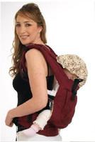 mochilas porta bebé rojo al por mayor-Delantera espalda bebé portador infantil mochila honda vino rojo y Dark Blue Comfort DHL envío gratis!