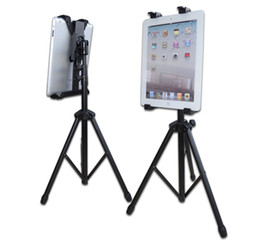 Wholesale Ipad Stand Portable Aluminum - Portable Aluminum Alloy Tripod A-Fram Folding Desk Stand Holder fot Tablet PC Portable Adjustable