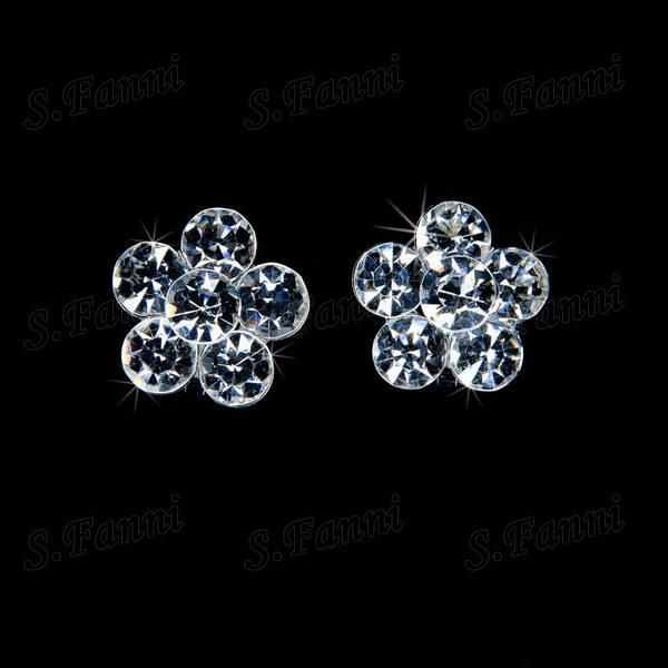 2019 nieuwe ontwerp strass tiara's oorbellen en ketting sieraden set bling bling