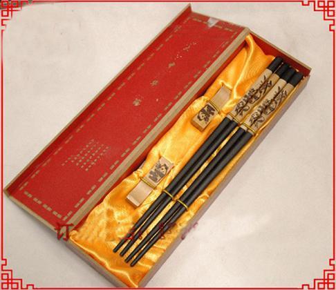 고급 젓가락 각인 판다 디자인 선물 상자 2 sets / pack (1set = 2pair) 무료