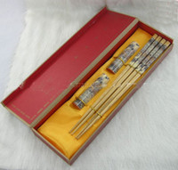 Wholesale Gift Boxes Buy - Buy Wood Chopstick Set Chinese Printed Crafts Gift Boxes 2 Sets  pack (1set=2pair) Free