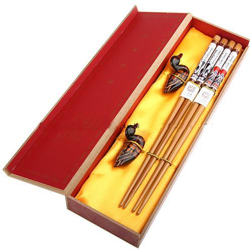 Köp Wood Chopstick Set Chinese Printed Crafts Presentkartonger 2 Sets / Pack (1Set = 2Pair) Gratis