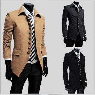 Online Cheap Hot Men Outerwear & Coats Overcoat Wool Coat Men ...
