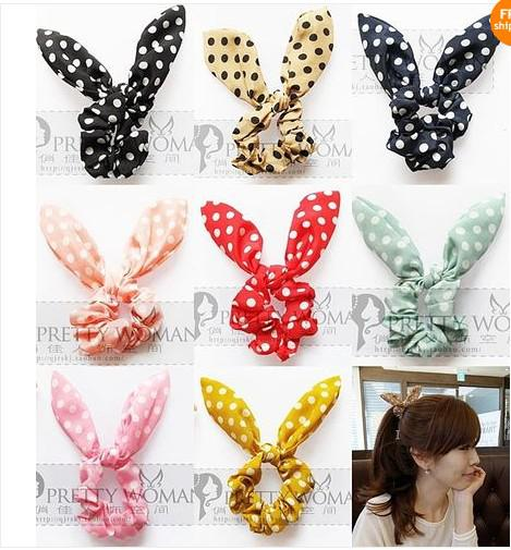 Fashion Women Girl Sweet Rabbit Ear Hair Bands Tie