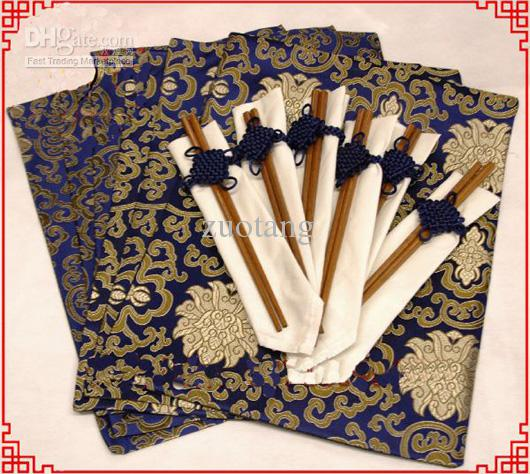 2017 Gorgeous Damask Printed Dinner Party 6 Placemats And Chopsticks Set High Quality Chinese Style From Zuotang 2413