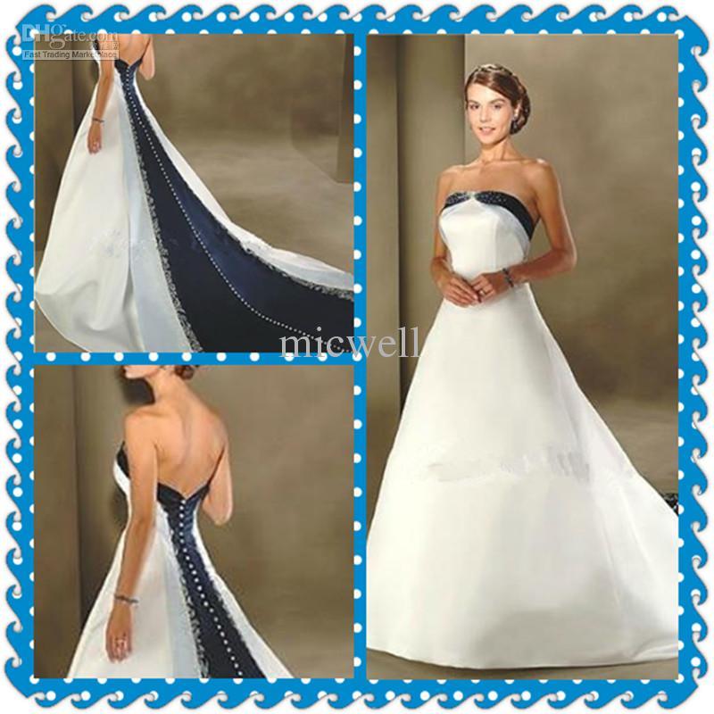 d4e9c5a4ebc3 Dark Blue And White Wedding Dress White Amp Dark Blue Ball GownDark Blue  And White Wedding