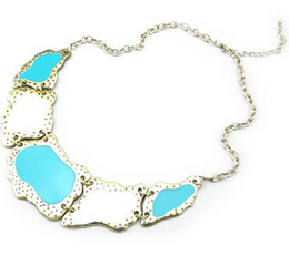 Punk Geometry Irregular Enamel Vintage Style Choker Bib Necklace women's