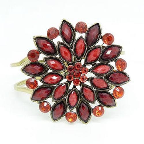 Bohemian retro blomma armband full av ädelstenar