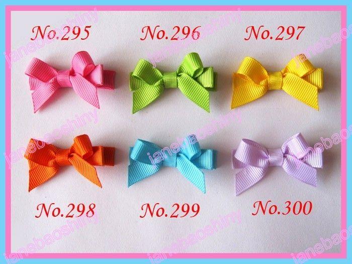Livraison gratuite 70ps 2 « clips cheveux de fleur » mini top populaires mélange arcs cheveux fille bébé couleur